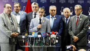 Der marokkanische  Ministerpräsident  Saadeddine Othmani mit seinem Kabinett; Foto: Reuters