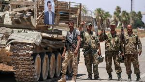Assads Truppen in der Provinz Daraa; Foto: Getty Images/AFP