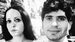 Die Romanillustratorin Molly Crabapple und der Schriftsteller Marwan Hisham; Quelle: Molly Crabapple & Marwan Hisham