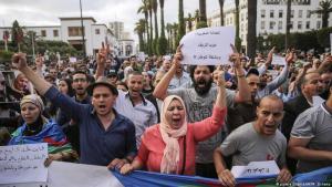 """Proteste gegen die Verurteilung von """"Hirak El-Shaabi""""-Aktivisten in Marokko am 27. Juni 2018 in Rabat; Foto; Foto: picture alliance/AP/M. Elshamy"""
