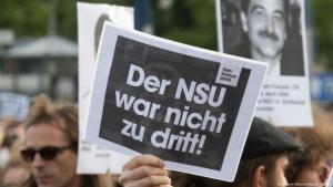 Proteste nach dem Urteil im NSU-Prozess; Foto: dpa/picture-alliance