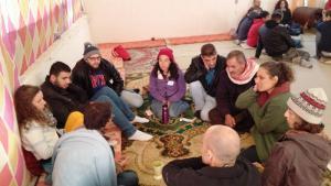 "TeilnehmerInnen am ""Sulha Peace Project"" im vergangenen Januar; Foto: Yoav Peck"