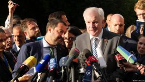 Italiens rechtspopulistischer Innenminister (li.) und Deutschland Ressortchef Horst Seehofer. Foto: DW/Berns Riegert