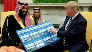 Waffendeals à la Carte mit Donald Trump: Mohammed bin Salman, Kronprinz Saudi-Arabiens, zu Besuch bei  US-Präsident Donald Trump in Washington; Foto: Reuters
