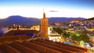Blick auf die historische Altstadt von Chefchaouen, Marokko; Foto: picture-alliance