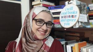 "Hoda Marmar, Gründerin von ""Bookoholics"" in Beirut; Foto: Hoda Marmar"