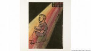 Mohammeds Skizzen, Malereien und Zeichnungen dokumentieren die bedrückende Enge in ägyptischen Gefängnissen, in denen sich Zehntausende Menschen zumeist seit Monaten oder Jahren ohne Anklage befinden.