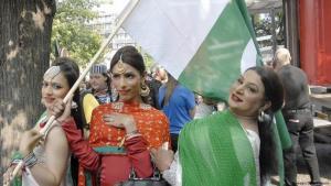 Hijras aus Pakistan auf einer Transsexuellen-Demo in Kopenhagen, Dänemark, am 15. August 2015; Foto: Imago/Dean Pictures