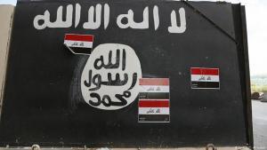 ISIS-Symbole auf einer Straße bei Tikrit, Irak; Foto: Reuters/T. Al-Sudani