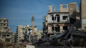 Zerstörte Altstadt von Homs, Zentralsyrien; Foto: dpa/picture-alliance