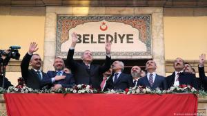 AKP-Wahlveranstaltung mit Präsident Erdoğan am 12. Februar 2019 in der türkischen Provinz Corum; Foto: picture-alliance/AA/C.Oksuz
