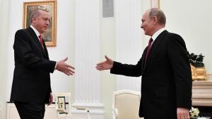 Russland Präsident Wladimir Putin (r.) und der türkische Präsident Recep Tayyip Erdoğan am 23. Januar 2019 im Kreml in Moskau; Foto: Reuters/A. Nemenov