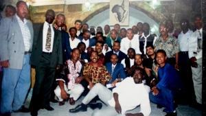 Eröffnung des afrikanischen Gemeindezentrums in Jerusalem 1996 im Beisein des Autors; Foto: privat