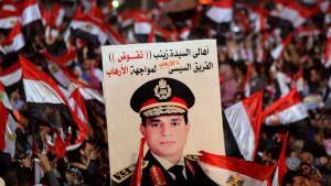 Anhänger Abdel Fattah al-Sisis auf dem Tahrirplatz in Kairo am 25. Januar 2014; Foto: Reuters/Mohamed Abd El-Ghany