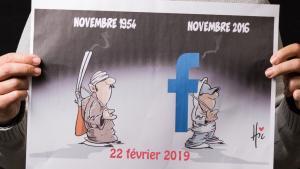 Proteste algerischer Internetnutzer gegen ein fünfte Amtszeit Bouteflikas; Foto: Nourredine Bessadi