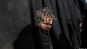 Befreiter Junge aus den Händen der IS-Dschihadisten in Baghus am 5.03.2019; Foto: Reuters/R. Said