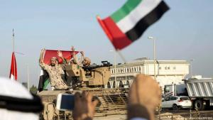 Soldaten der Vereinigten Arabischen Emirate bei ihrer Rückkehr aus dem Jemenkrieg. Foto: Picture-Alliance/ dpa/ epa/ena