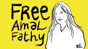 Kampagne Free Amal Fathy; Foto: privat