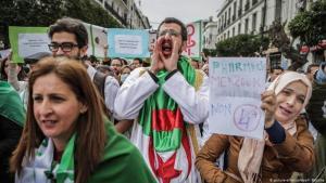 Proteste gegen eine fünfte Amtszeit von Abdelaziz Bouteflika in Algerien; Foto: Picture alliance/ dpa/ F. Baticha