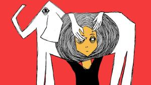 "Comicstrip aus ""The archive as a battlefront"" - Illustration von Rawand Issa; Foto:  Rawand Issa"