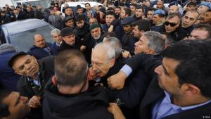 Angriffe auf CHP-Führer Kemal Kiliçdaroğlu in Cubuk, einem Vorort von Ankara, am 21. April 2019; Foto: DHA