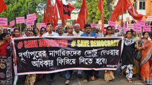 """Wahlveranstaltung """"Rettet die Demokratie"""" im indischen Kalkutta im Mai 2019; Foto: DW/Payel Samanta"""