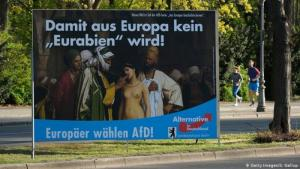 Europawahl-Plakat der AfD in Berlin; Foto: Getty Images/S. Gallup