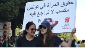 Protest in Tunis im Frühling 2012 gegen die islamisch-konservative Ennahda-Partei; Foto: © Aya Chebbi