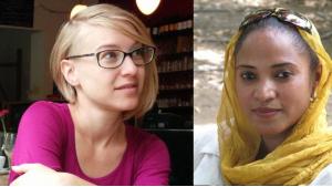 Übersetzerin Elisabeth Jaquette (links) und die sudanesische Autorin Rania Mamoun; Foto: privat