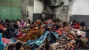 Ein Flüchtlingslager in der Nähe von Libyens Hauptstadt Tripolis; Foto: Getty Images/AFP