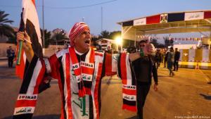 Iraker feiern die Wiedereröffnung der Grünen Zone, in der Regierungsgebäude und westliche Botschaften untergebracht sind, am 10. Dezember 2018 in der Hauptstadt Bagdad; Foto: Getty Images/AFP/A. Al-Rubaye