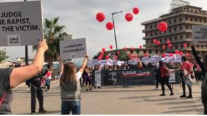ABAAD-Stunt beim Internationalen Marathon in Beirut; Foto: © ABAAD