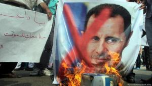 Proteste gegen Präsident Baschar al-Assad in Syrien; Foto: picture-alliance/dpa/K.Elfiqi