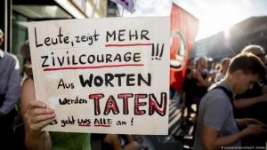 Eine Kundgebung gegen rechte Gewalt im Juni in Berlin. Foto: Picture Alliance/dpa/C. Soeder