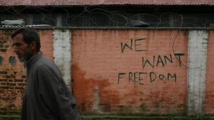 Anti-Indien-Graffitis in Kaschmir; Foto: Marian Brehmer