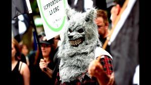 Demonstration von ultrarechten und rechtspopulistischen Kräften in Québec; Foto: YouTube