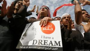 Die Bidun, Kuwaits staatenlose Bürger fordern seit Jahrzehnten vergeblich Bürgerrechte. Foto: getty images/afp/Y. Al Zayyat