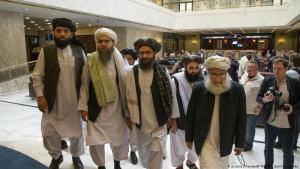 Politische Vertreter der Taliban treffen am 28.05.2019 zu Gesprächen in Moskau ein; Foto: picture-alliance/AP