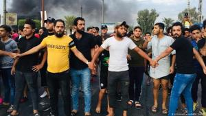 Proteste gegen die Regierung in Bagdad am 7. Oktober 2019; Foto: picture-alliance/AA