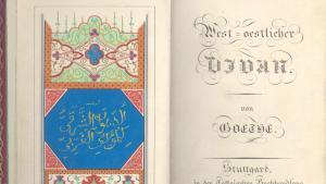 """Erstausgabe des """"West-östlichen Divan"""" von Goethe in der Cottaischen Buchhandlung, 1819; Foto: Goethe-Museum in Düsseldorf"""