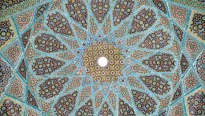 Grabstätte des persischen Dichters Hafis in Schiras, Iran; Quelle: Wikimedia