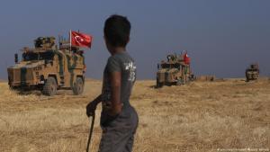 Vorstoß türkischer Militärfahrzeuge in Nordsyrien; Foto: picture-alliance/AP