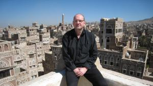 Der deutsche Schriftsteller Guy Helminger in Sanaa, Jemen; Foto: Guy Helminger
