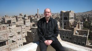 Der deutsche Schriftsteller Guy Helminger in Sanaa, Jemen; Foto: Guy Helminger