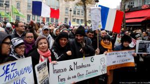 Demonstration gegen Islamophobie in Paris am 10.11.2019; Foto: Getty Images/AFP