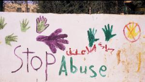 """Grafitti in der jordanischen Hauptstadt Amman: """"Nein zur Gewalt gegen Frauen""""; Foto: Claudia Mende"""