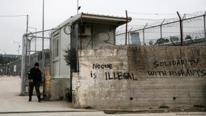 Eingang des Flüchtlingslagers Moria auf Lesbos, Griechenland; Foto: Reuters