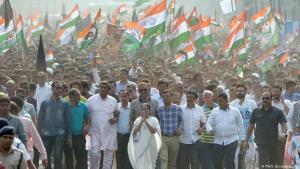 Proteste gegen das indische Einbürgerungsgesetz in Kalkutta im Dezember 2019; Foto: DW/S. Bandopadhyay