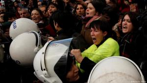 Proteste gegen Gewalt an Frauen in Istanbul am 8. Dezember 2019; Foto: Reuters/U.Bektas
