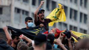 Hisbollah-Anhänger in Beirut am 25. Oktober 2019; Foto: Reuters/Mohamed Azakir